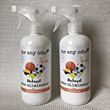 OAM Solutions odor eliminating spray for all sports equipment. Eliminates nasty odors from all your sports gear and exercise equipment. Unscented - 2 16 oz Bottles