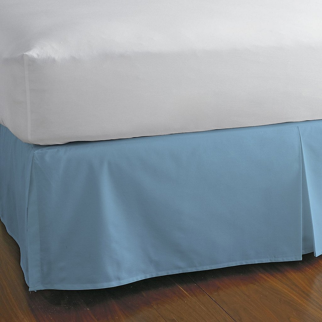 豪華な分割コーナーベッドスカート1000スレッド数100 %エジプト30インチドロップby Kotton Cultureソリッド(アクアブルー、カリフォルニアキング) (可能なすべてのサイズと29色) クイーン ブルー 1SCBDSO3010TCASkBlueQ B072P26NV9 スカイブルー クイーン