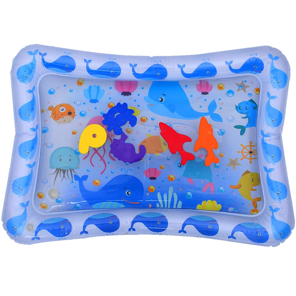 Inflatable Tummy Time Water Mat Infants Fun Activity Play Center Baby Toys for Ages 3 Months and up anRYT
