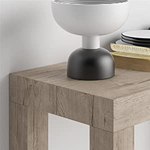 Mobili Fiver, Table Console extensible First, Chêne, 90 x 45 x 75 cm, Mélaminé/Aluminium, Made in Italy