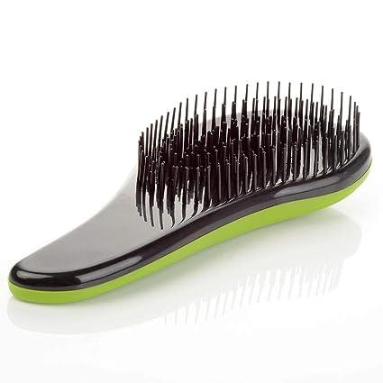 Magic Handle Tangle Detangling Comb Shower Hair Brush detangler Salon Styling Tamer exquite cute useful Tool Hot hairbrush (Green)