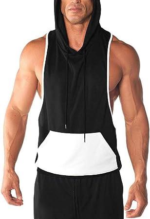 CPBXX Chaleco De Fitness Hombres Culturismo Algodón Camiseta ...