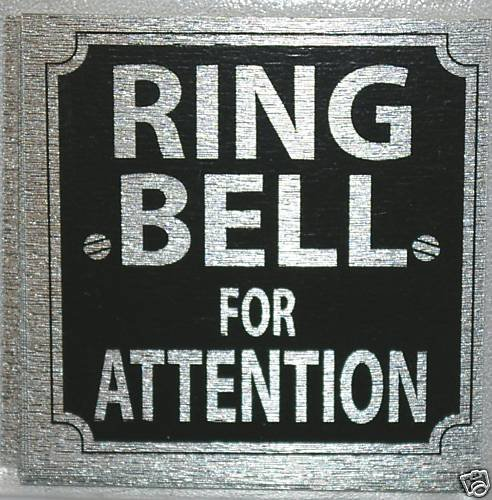 eCobbler Stick on Sign For Home or Business 8x8cm Ring Bell For Attention