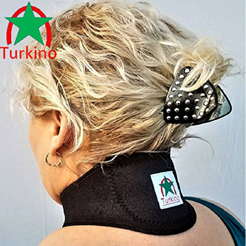 UPC 689354137862, Neck Brace ~ New Black support Turkino Tourmaline Portable Device ~ Physical Therapy ~ Pain Relief, Arthritis, Depression, Stress, Headaches ~ Natural Remedy Cervical Collar Men, Women