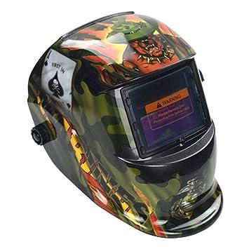 LAIABOR Careta para Soldar Casco de Soldadura Máscara Soldar de Energía Oscurecimiento Automático y Ajustable para MIG/TIG/MMA: Amazon.es: Deportes y aire ...