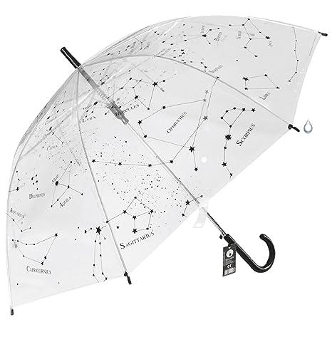 Paraguas Transparente Constelaciones apertura automática - Estrellas del universo mostrando la Vía Láctea del cielo estrellado