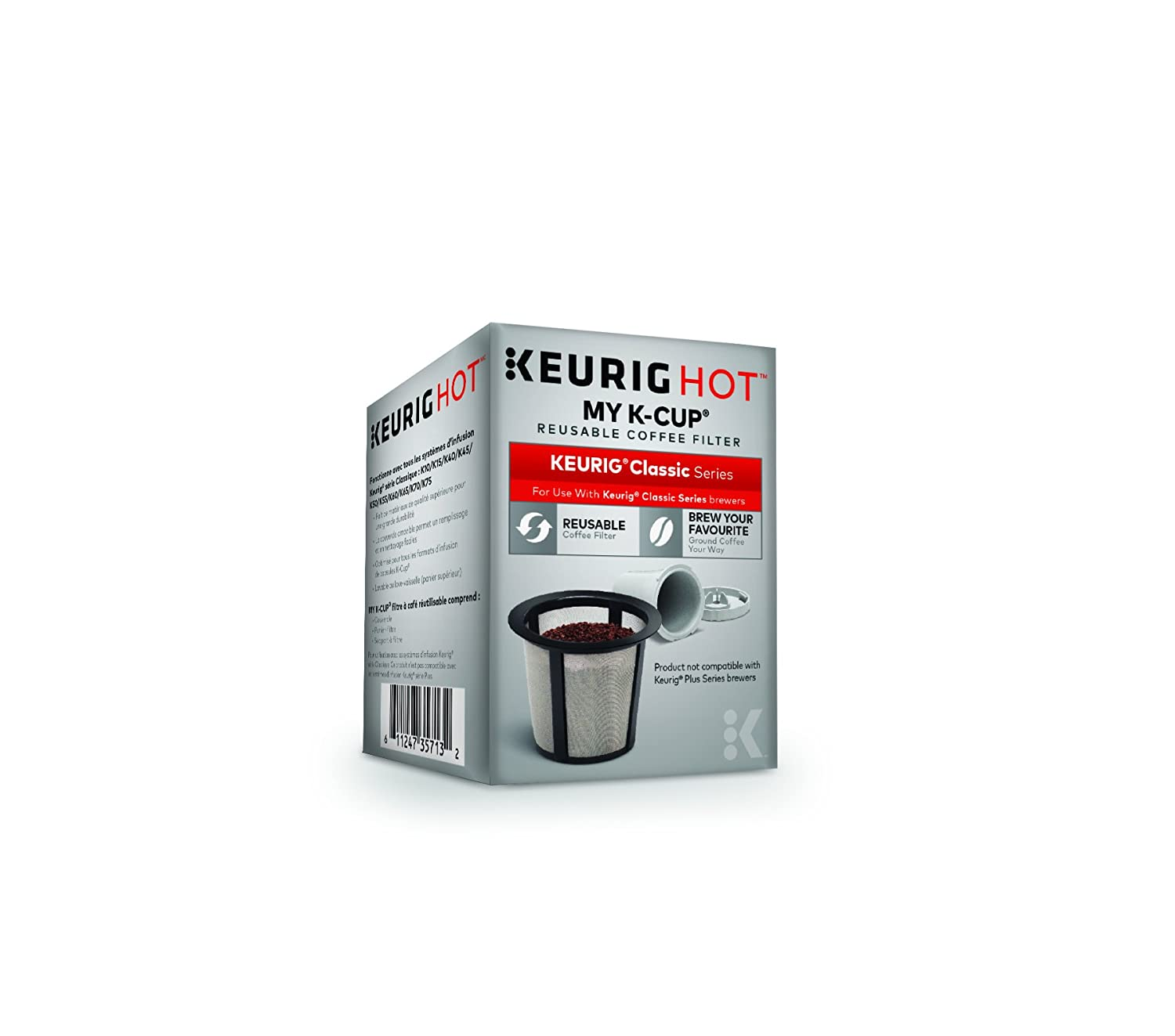 Keurig My K-Cup Reusable Ground Coffee Filter, Compatible with All1.0/Classic Keurig K-Cup Pod Coffee Makers