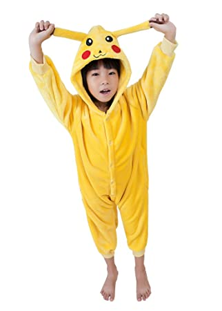 2a0dd056083d5 UDreamTime Enfant Unisexe Ensemble de Pyjama motif animaux Cosplay Costume  Pikachu XXL
