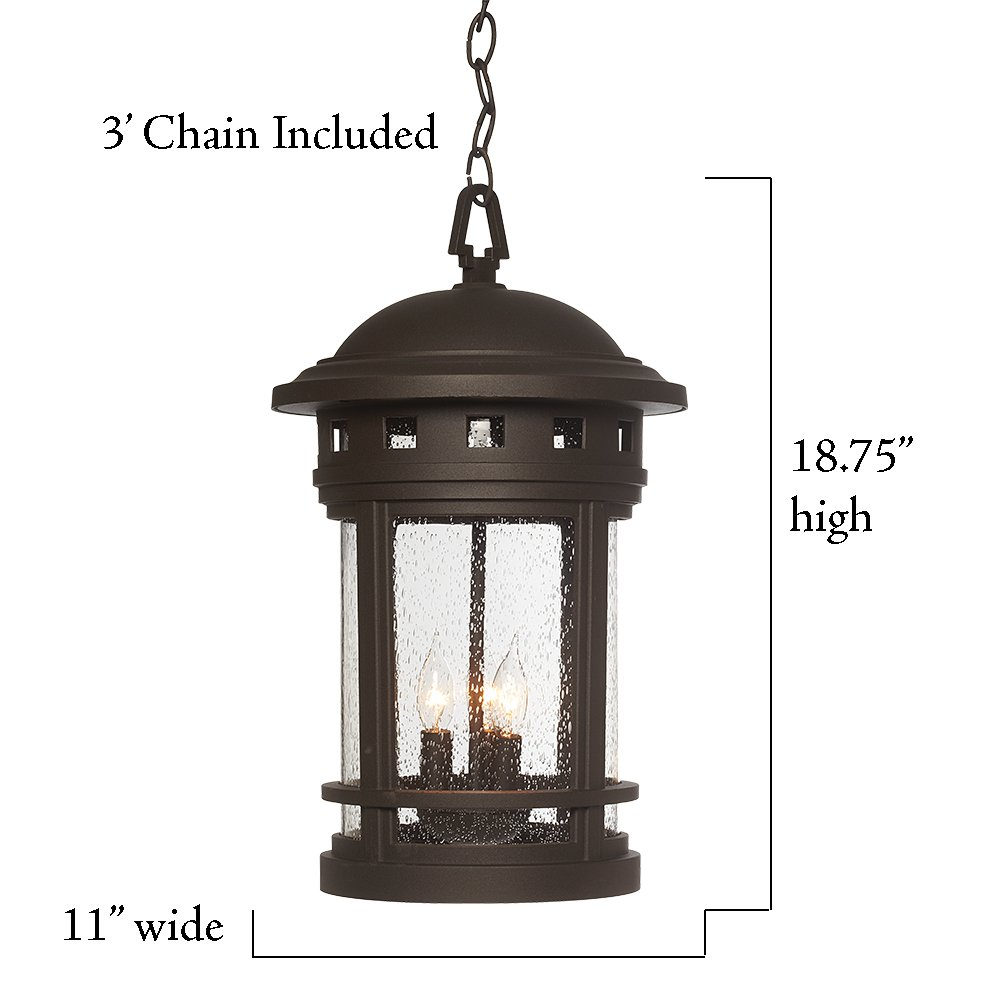 Designers Fountain 2394-ORB Sedona Hanging Lanterns, Oil Rubbed Bronze