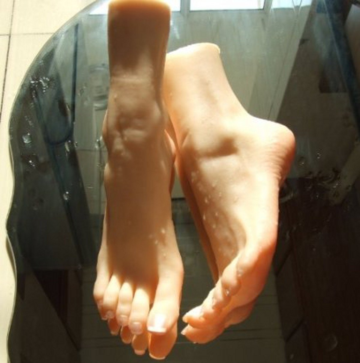 CHENGYIDA 1 Pair silicone Lifesize Female Mannequin foot shoes Display Model Art Sketch