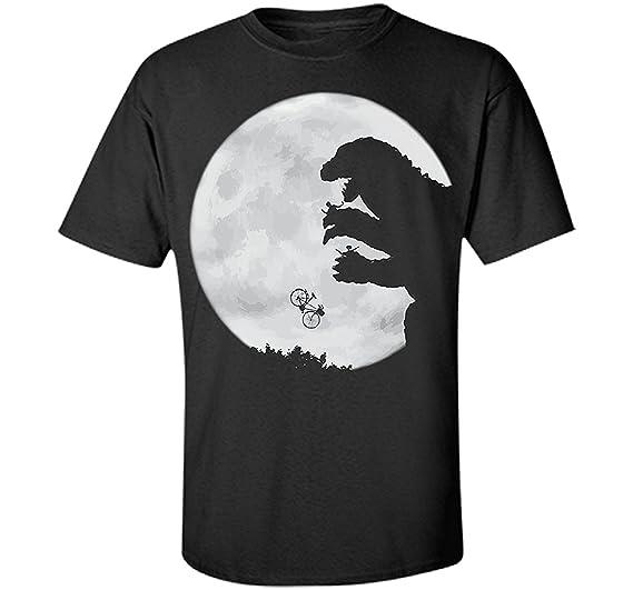 ec87aaa7 Amazon.com: Yamoon Men's Black Cotton E.T. Vs. Godzilla T-Shirt ...