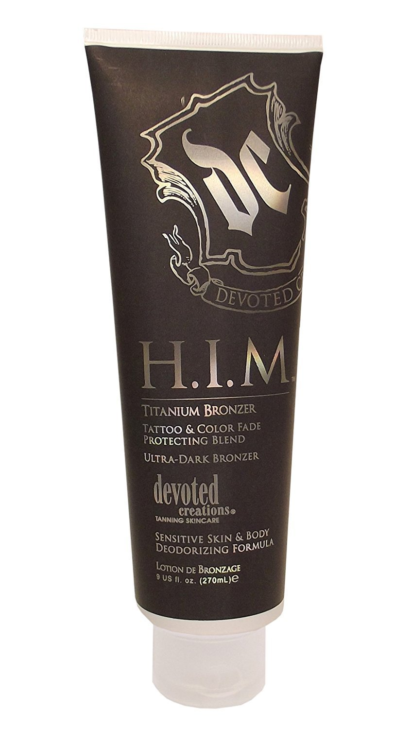 HIM TITANIUM BRONZER tanning lotion Devoted Creations