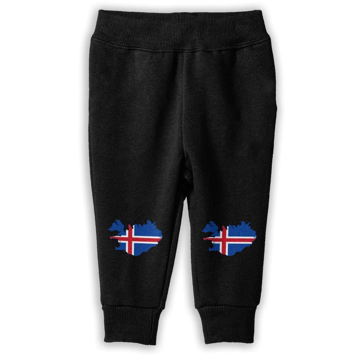 Little Girls Jogger Pants NJKM5MJ Flag of Iceland Map Sweatpants