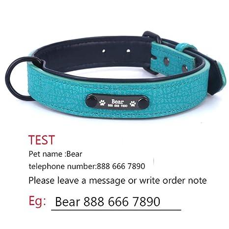 Collar Perro Ajustable Collares De Perro Personalizados Ajustable ...