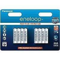 Panasonic eneloop, NiMH-accu gereed voor gebruik, AAA micro, verpakking van 8, 750 mAh, 2100 laadcycli, met hoog…