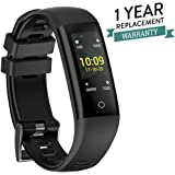 Omega Premium Version Sports Fitness Tracker by AheadStrong   Heart Rate, Blood Pressure, Calorie Counter, Steps, Notification Reader, Sedentary Reminder, Sleep Monitor and IP67 Waterproof Compatible with iOS and Android Devices