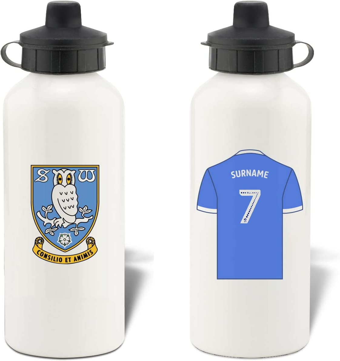 Free Delivery Personalised Sheffield Wednesday Retro Shirt Water Bottle