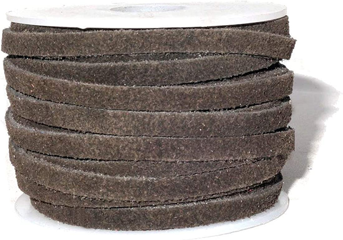 10x2mm leather cord MADE in EUROPE 24 of genuine brown leather cord flat 10mm dark brown leather cord MARF10BR