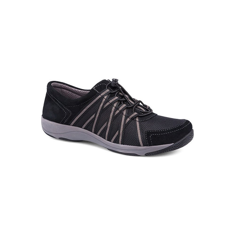 Dansko Women's Honor Lace-Up Athletic Shoe Black/Black Suede