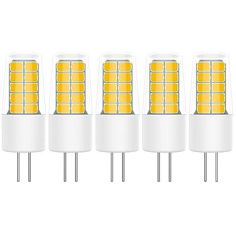 5X G4 Bombillas LED 3W Bombillas Lámpara 20 SMD 2835LEDs Blanco Cálido 3000K Equivalente a Lámparas