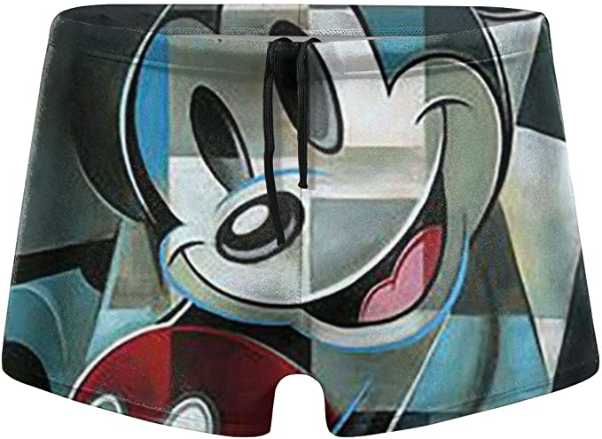 Lxjjj Bañador Tipo bóxer para Hombre, diseño de Mickey Mouse ...