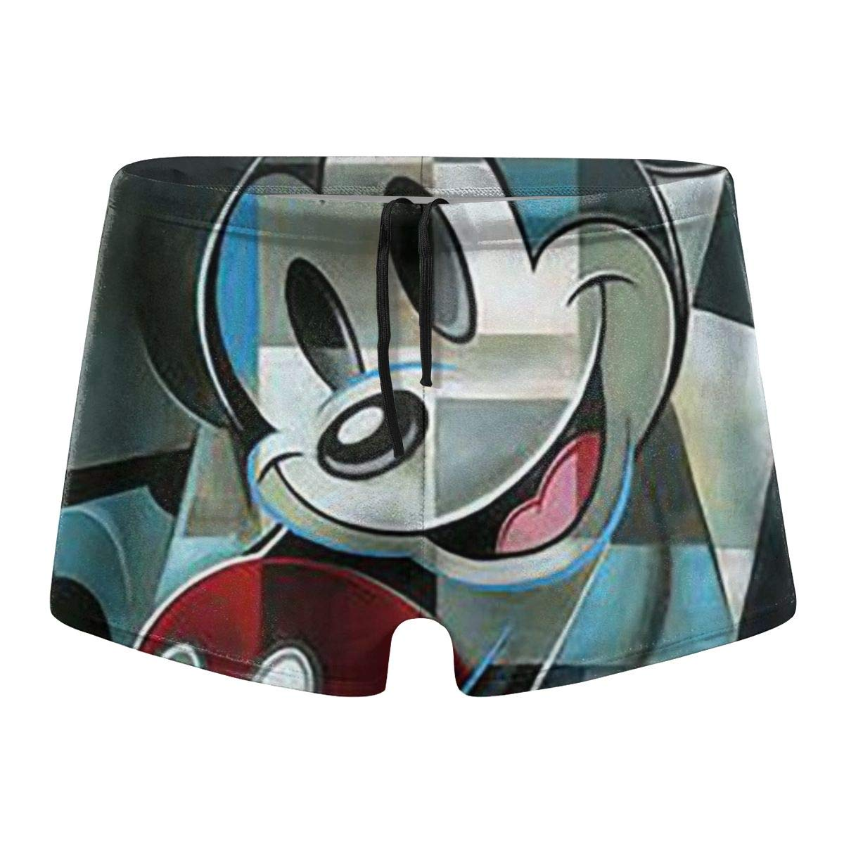 Mickey Mouse Special Printed Hot Body Swim Underwear Boardshorts Lxjjj Mens Beach Swimming Trunks Boxer Brief Swimsuit