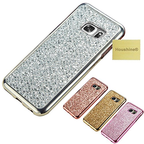 S6 Edge Plus Glitter TPU Case, Houshine Premium Electroplated Bumper Bling Soft Cover Case for Samsung Galaxy S6 Edge Plus, Silver