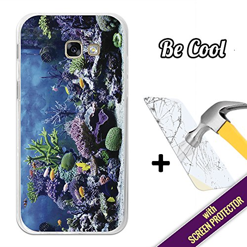 BeCool- Cover Gel Flexible Samsung Galaxy A5 2017, protects and adapts flawlessly to your Smartphone, together with our exclusive designs. Aquarium [ +1 Tempered Glass Screen Protector (Aquarium Tempered Glass)