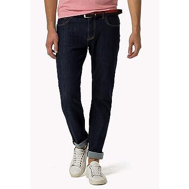 76167054 Tommy Hilfiger - Bleecker Flex Jean, Colrain Indigo, 38-32: Amazon.co.uk:  Clothing