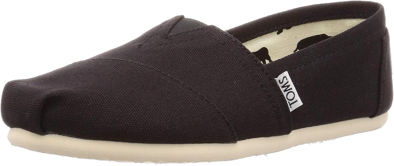 TOMS Classics 1001b07, Sneaker, Femme Noir Noir (Schwarz) 40 EU