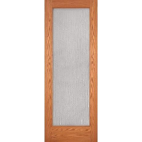 Bamboo Casting Woodgrain 1 Lite Unfinished Oak Interior Door Slab
