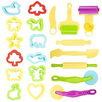 11 Teilig Knetwerkzeug Teig Plastilin Werkzeuge Zubehör Knetwerkzeug