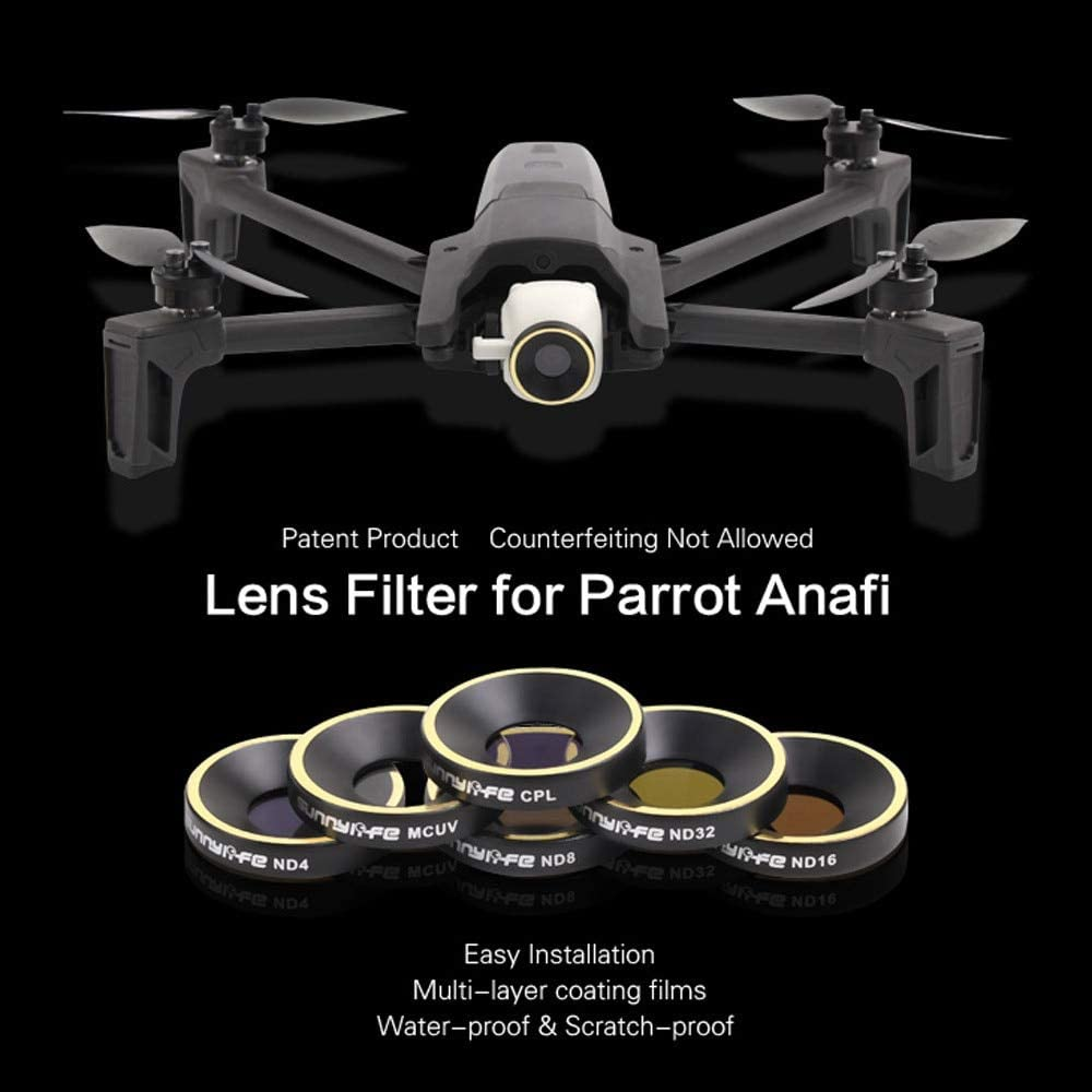 Color: ND16, Delivery from 15 to 20 Days Yoton Accessories ND4 ND8 ND16 ND32 CPL MCUV Lens Filter for Parrot ANAFI Drone Gimbal Camera Lens