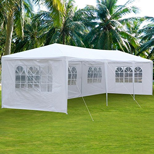 Clevr 10'x30' Canopy Party Wedding Outdoor Tent, Walls w/windows, Gazebo Pavilion Cater Events Tent by Clevr