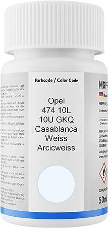 Mg Prime Autolack Lackstift Set Für Opel 474 10l 10u Gkq Casablanca Weiss Arcicweiss Basislack Klarlack Je 50ml Auto
