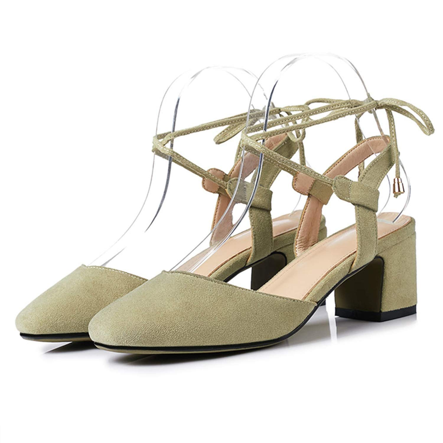 3-201 Green shoes Cover Square Toe Sexy Slingback Summer shoes for Women Sandal