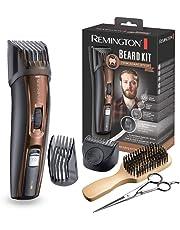 Remington Coffret Rasage, Tondeuse Barbe Lames Auto-Affûtées Titanium, Sabots Ajustables, Différents Styles, Batterie Lithium - MB4045
