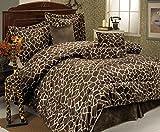 7Pcs King Giraffe Animal Kingdom Bedding Comforter Set