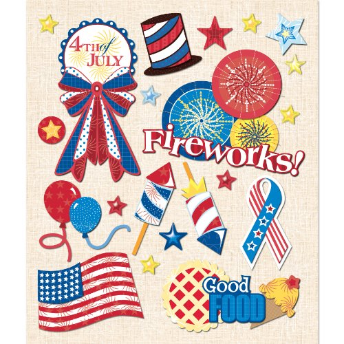 K&Company 4th of July Sticker Medley (Scrapbooking July 4th Of)