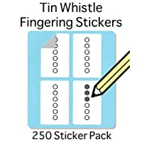 Tin Whistle, Basuri & Native American Flute: Fingering Stickers (250 Sticker Pack) Free Shipping in Box Free Shipping At Check Out.