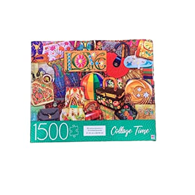 Collage Time Purses- 1500pc Jigsaw Puzzle: Toys & Games