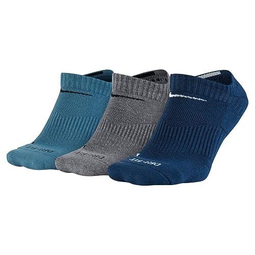 NIKE - calcetines invisibles acolchado seco Hombres : Amazon.es: Zapatos y complementos