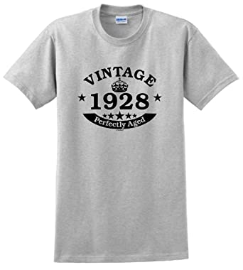 90th Birthday Candles Cards Gift Vintage 1928 Perfect Aged Crown T Shirt Small