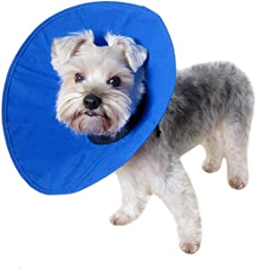 Alfie Pet - Soft Recovery Collar (for Dogs & Cats) - Color: Blue