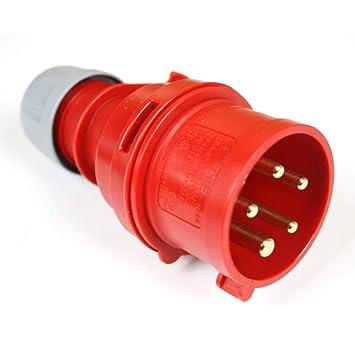 CEE-Stecker 5-polig 400V//16A rot