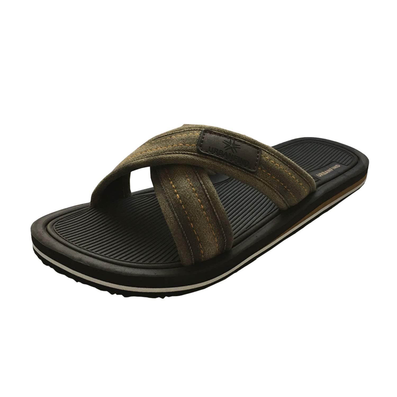 URBANFIND Men's Slides Sandals Thong Flip Flop Shower Slippers FKX043