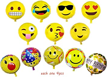 Anniversario Matrimonio Smorfia.Hantier 18 Emoji Mylar Balloon Sticks Holders Con Tazze Forniture