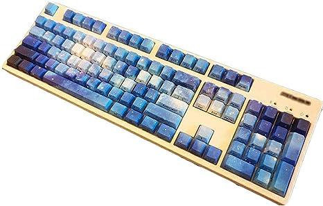 WMNRNYD PBT Keycaps 104 Teclas Side Print Starry Sky Juego de ...