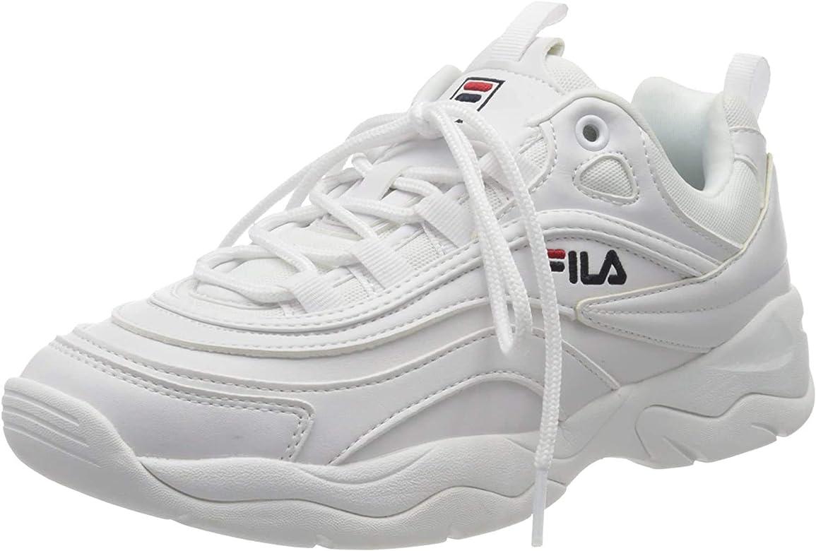 Fila Ray Low Wmn, Zapatillas para Mujer, Blanco (White