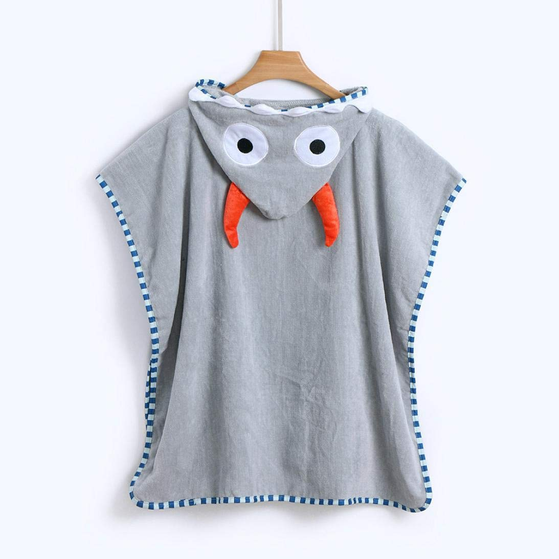 AutumnFall Kids Soft Bathrobe Comfy Cartoon Animals Hooded Cotton Robe Unisex Baby Hooded Gift All Seasons Sleepwear Bath Towel (1-7 Years Old Baby, Pink) AutumnFall®